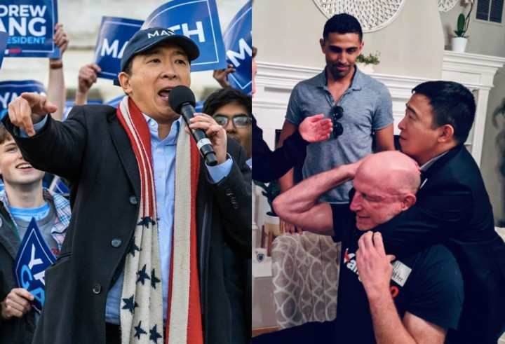 "US Presidential Candidate Andrew Yang: ""Police Officers Should Be BJJ Purple Belts"""