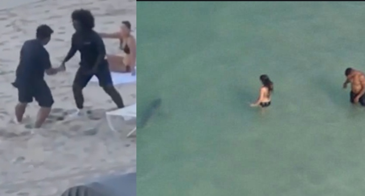 2 Wrestlers on the Beach Spotted a Shark & Saved a Couple in the Water