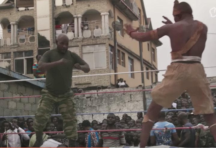Catch Wrestling Mixed with Voodoo in the Congo