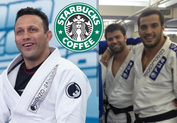 Renzo Gracie Got Inspiration From Starbucks To Write Names on Gi Collars