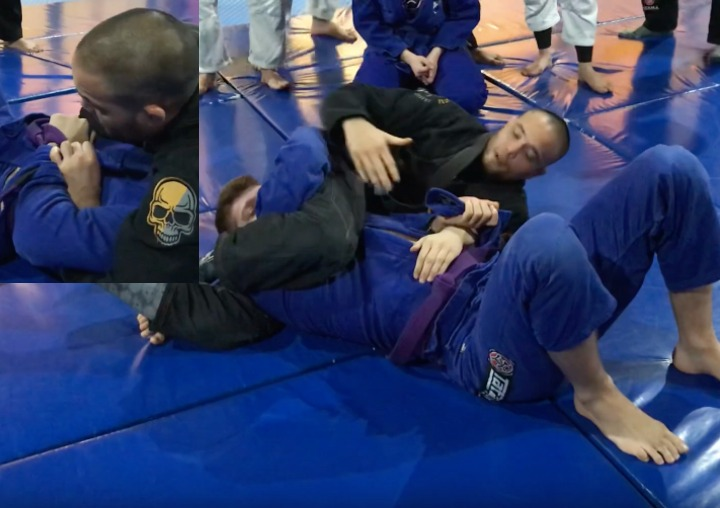 Reverse Triangle From Side Control Using the Magic Skirt Grip