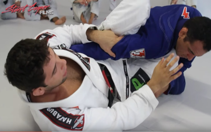 Buchecha Shows a 4 Linked Submissions From Knee Shield Half Guard