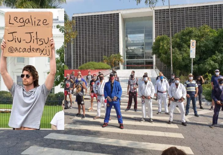 Jiu-Jitsu Practitioners Protest in The Street To Open Gyms in Brazil Amid Coronavirus Outbreak