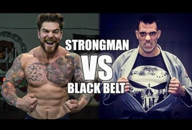 Champion 250lb strongman Rolls With BJJ Black belt Ricardo Migliarese
