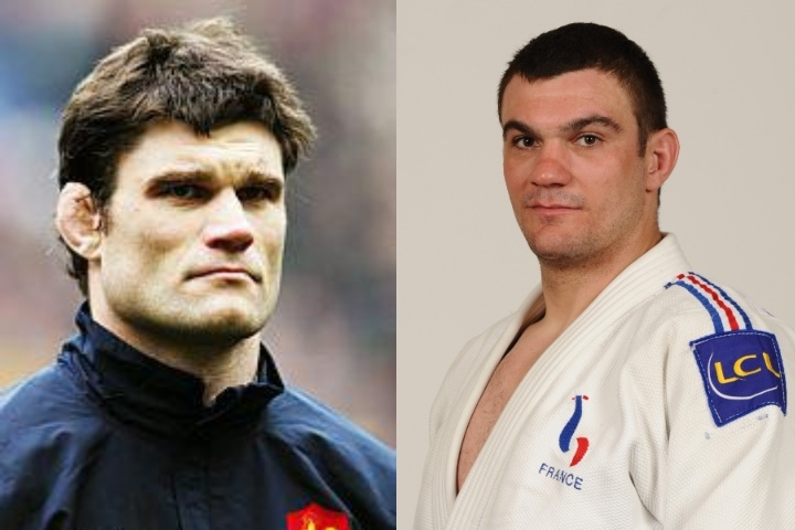 French Rugby Legend Fabien Pelous Trains Judo & Spars with Judo World Bronze Medalist