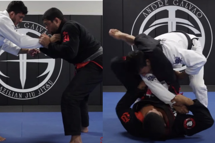 Pull Guard Straight Into A Triangle With Andre Galvao