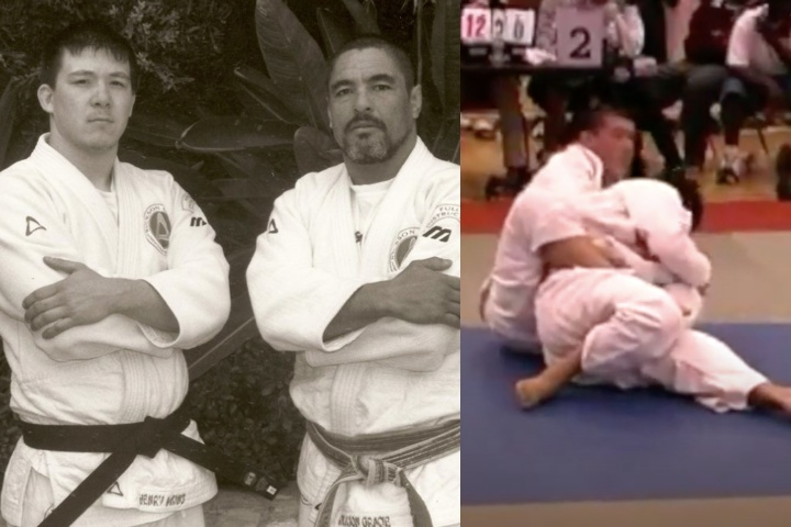 Rare Video Of Rickson Gracie Black Belt Henry Akins Competing as a Purple Belt