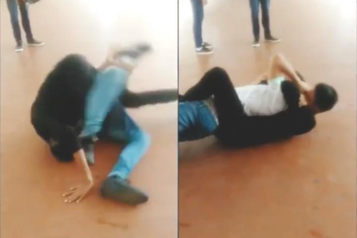 BJJ Practitioner Uses Modern Jiu-Jitsu Rolling Back Take To Teach Street Bully a Lesson
