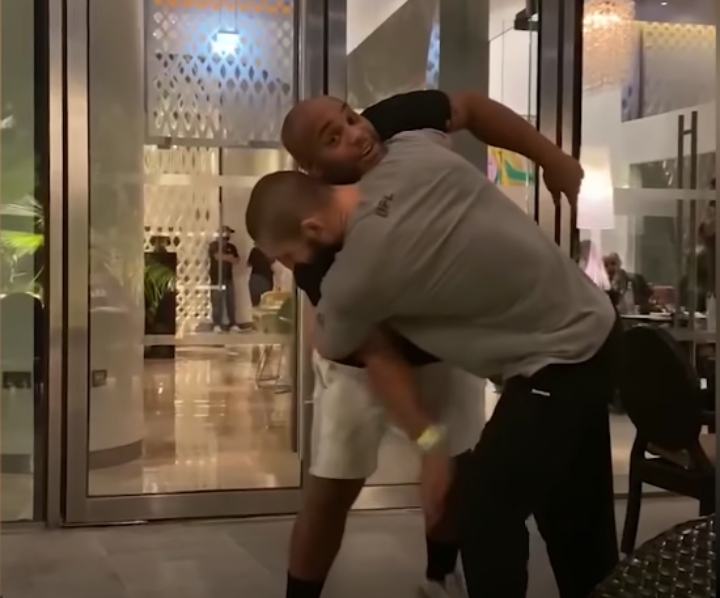 Daniel Cormier Wrestles with Khamzat Chimaev: 'He's F****g Strong'
