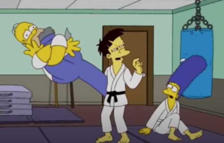 That Time Homer Simpson Tried Out Jiu Jitsu