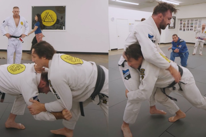 Learn to Wrestle in the Gi with Tim Kennedy: Snap Down to Double Leg Tackle