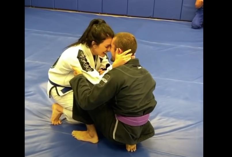 Faked Injury Turns Into An Adorable Jiu-Jitsu Proposal On The Mats