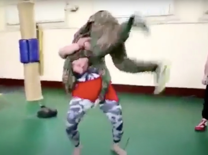 MMA Fighter Grapples with Russian Special Forces