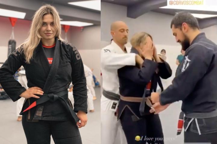 Heartwarming Surprise Promotion for Russia's 2nd Female BJJ Black Belt Maria Varshavskaia