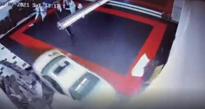 Car Crashed Through Wall of BJJ Academy During Training