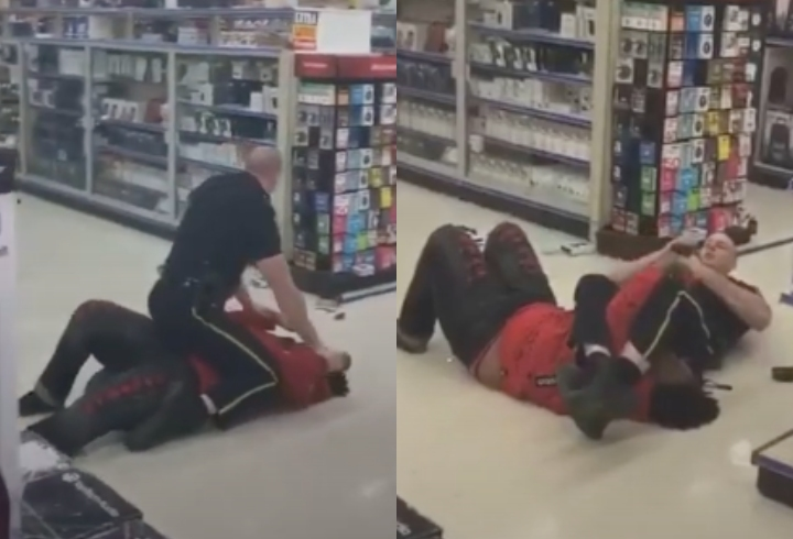 Police Officer Uses Flawless Jiu-Jitsu to Subdue Vandal