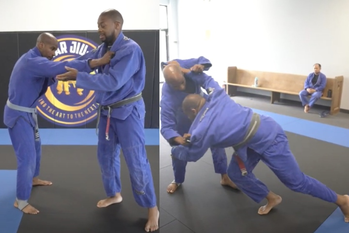 Counter a Stiff Arm with a Kneetap Takedown