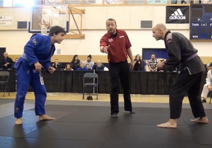 15 Year Old Blue Belt & 45 Year Old Purple Belt Meet in Jiu Jitsu Tournament Match