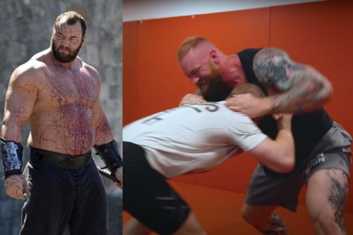 After Submitting a BJJ Black Belt, GOT's The Mountain Tries To Grapple with Gunnar Nelson