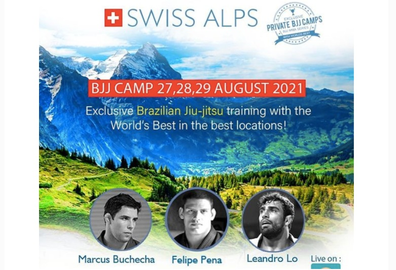 Dream BJJ Camp with Buchecha, Leandro Lo, Preguica in Swiss Alps