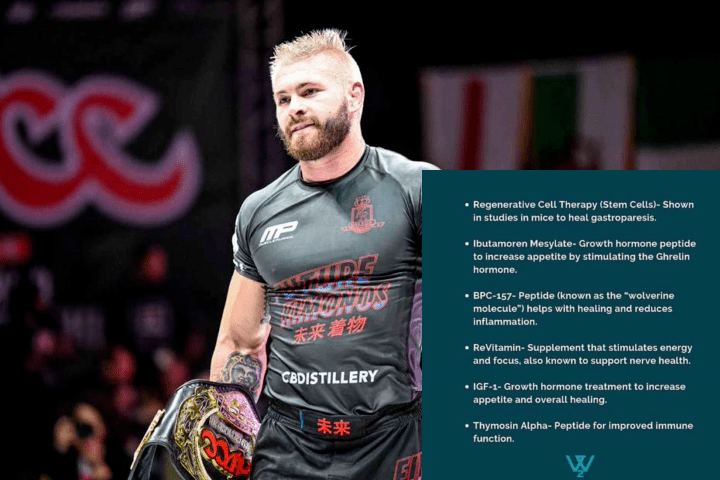 Gordon Ryan's Stomach Recovery Medicine Includes Growth Hormone Treatment