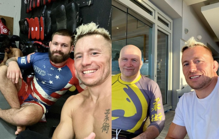Georges St Pierre On BJJ Training Trip in Puerto Rico with Gordon Ryan & Gary Tonon