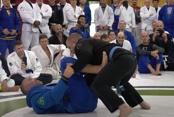 Tough Navy SEAL Blue Belt Challenges BJJ Black Belt for $2,500 in Front of Whole Class