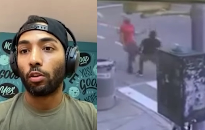 BJJ Blue Belt Blast Double Legs Aggressive Man Who Bumped Him in the Street