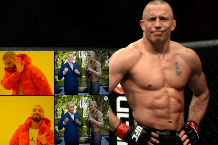 Georges St-Pierre Doesn't Mind His Statue That Looks Like Barack Obama