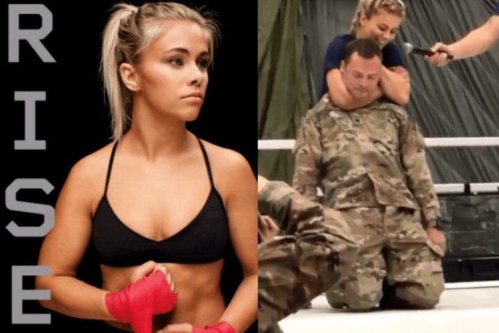 Paige VanZant RNC's Soldier And Puts Him To Sleep