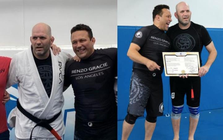 UFC Legend Matt Lindland Promoted to BJJ Black Belt by Renzo Gracie