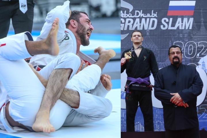 Abu Dhabi Grand Slam Russia: Dagestani Wins Black Belt Division & Impresses Steven Seagal