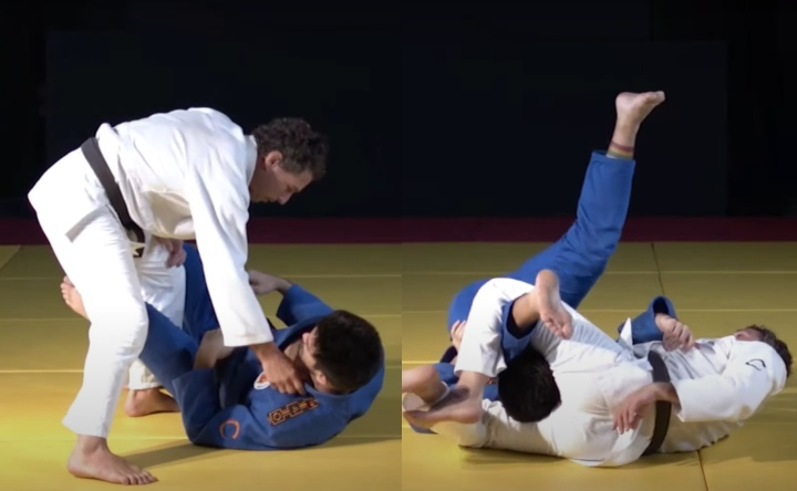 Canto Choke When Passing the Guard from Brazilian Judo Legend Flavio Canto