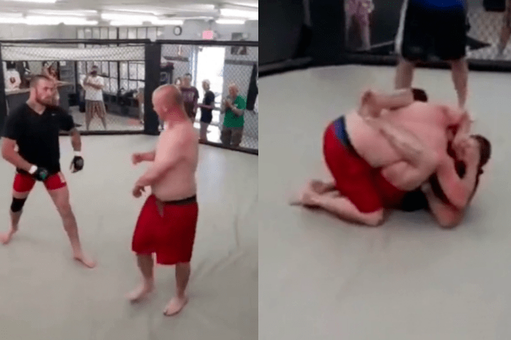"""Redneck """"Street Fighter"""" Challenges MMA Fighter: Gets Choked Out Cold"""