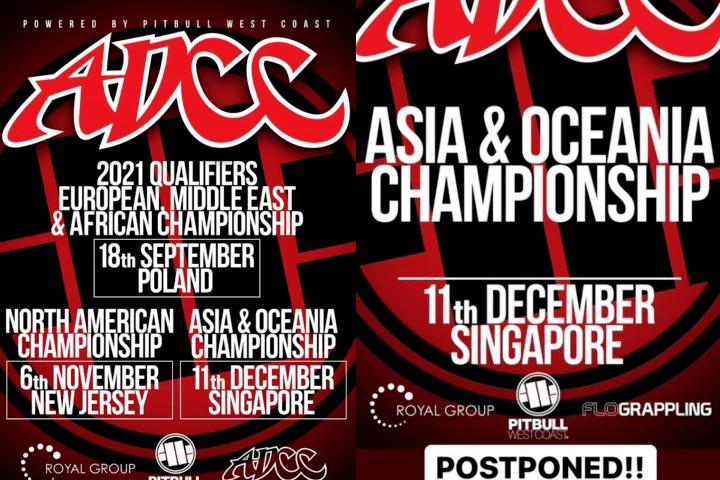 ADCC Asia & Oceania Trials Postponed Due to Coronavirus Pandemic